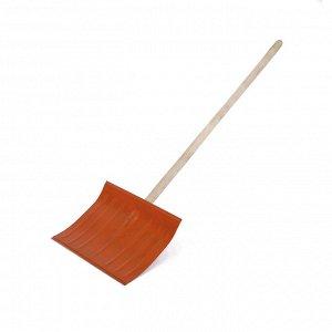 Лопата металлическая радиусная, ковш 360 ? 460 мм, деревянный черенок, 1 сорт