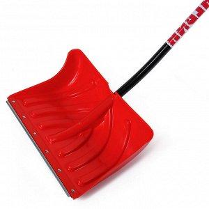 Лопата пластиковая, ковш 505 ? 340 мм, с оцинкованной планкой, алюминиевый черенок, «Пингвин»