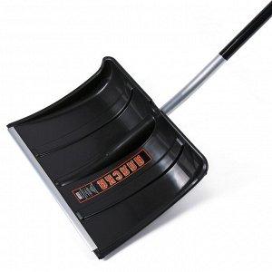 Лопата пластиковая, ковш 500 ? 375 мм, с алюминиевой планкой, алюмин. черенок, терморукав, «Аляска»