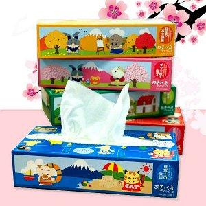 IDESHIGYO Бумажные салфетки «Игры-Самоделки», двухслойные, 150 шт. (спайка 5 пачек)