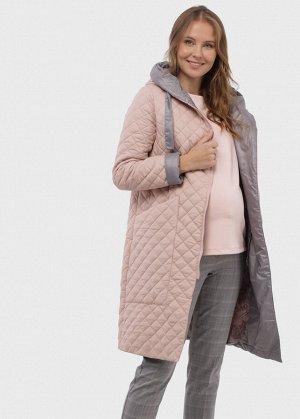 """Пальто демис. 2в1 """"Римини"""" для беременных; цвет: пудра"""