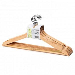 Набор деревянных плечиков для одежды 5 шт, Toveon X021