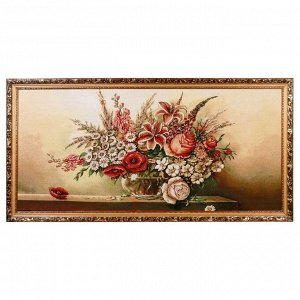 "Картина из гобелена ""Цветы"" (65х125)"