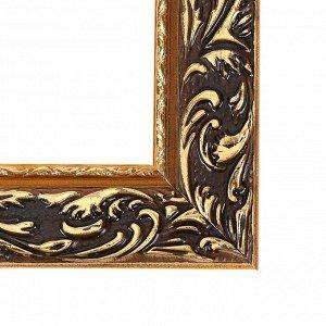 Рама для картин (зеркал) 70 х 90 х 4 см. дерево. «Версаль». цвет золотой