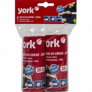 """""""YORK"""" Набор сменных блоков для чистки одежды 2шт. 20 листов 68010"""