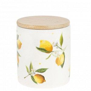 """""""Лимоны"""" Банка для сыпучих продуктов 650мл с крышкой в п.у. 2520860"""