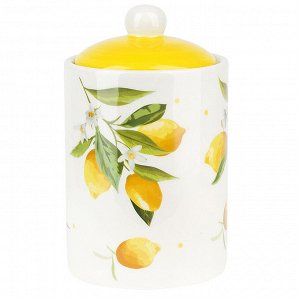 """""""Лимоны"""" Банка для сыпучих продуктов 750мл с крышкой в п.у. 2520858"""