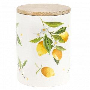 """""""Лимоны"""" Банка для сыпучих продуктов 840мл с крышкой в п.у. 2520861"""
