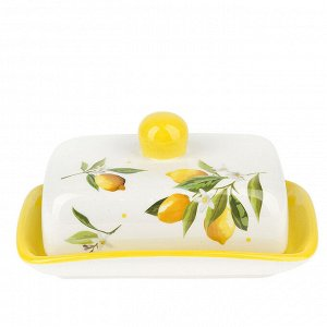 """""""Лимоны"""" Масленка 17x12x9см в п.у. 2520850"""
