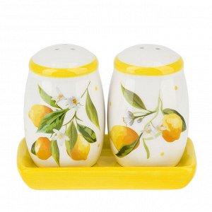 """""""Лимоны"""" Набор для специй 3пр 11x6x8,5см в п.у. 2520852"""