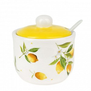 """Лимоны"" Сахарница с ложкой 350мл"