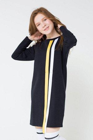 Платье(Осень-Зима)+girls (черный к19)