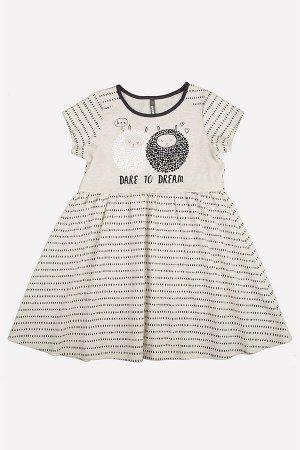 Платье(Осень-Зима)+girls (шерстка на светло-бежевом меланже)