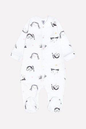 Комбинезон(Весна-Лето)+baby (веселые детки на белом)