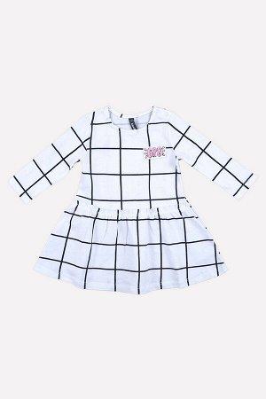 Платье(Осень-Зима)+girls (монохромная клетка на белом)