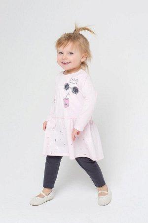 Платье(Осень-Зима)+girls (нежно-розовый)