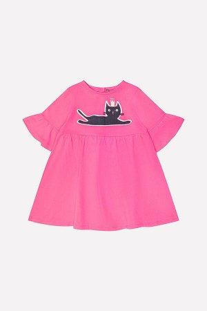 Платье(Осень-Зима)+girls (ярко-розовый к213)