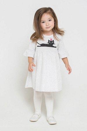 Платье(Осень-Зима)+girls (св.серый меланж к213)