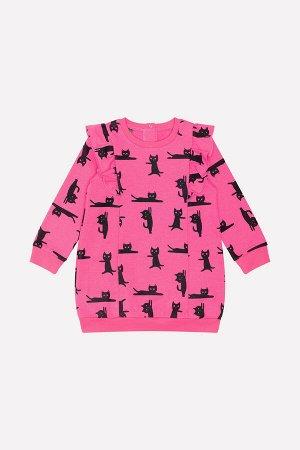 Платье Сезон: Осень-Зима Платье из футера с набивным рисунком. Спереди и сзади воланы. На спинке застежка на кнопки. Горловина, манжеты и пояс выполнены из хлопка с эластаном. 100% хлопок