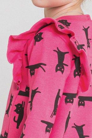 Платье Цвет: ярко-розовый, мультгерой к213; Вид изделия: Трикотажные изделия; Полотно: Футер-петля; Рисунок: ярко-розовый, мультгерой к213; Сезон: Осень-Зима; Коллекция: №213 Мультгерой Платье из фут