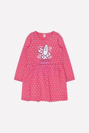 Платье Сезон: Весна-Лето Платье из хлопкового трикотажа супрем с набивным рисунком. Длинные рукава. Юбка, отрезная по талии, на сборке. Спереди принт с блестками. 100% хлопок