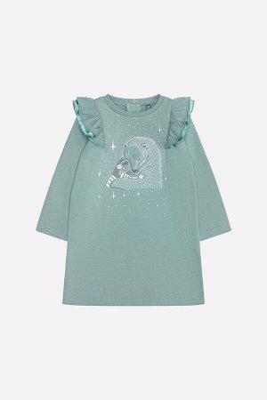 Платье(Осень-Зима)+girls (серо-зеленый к217)