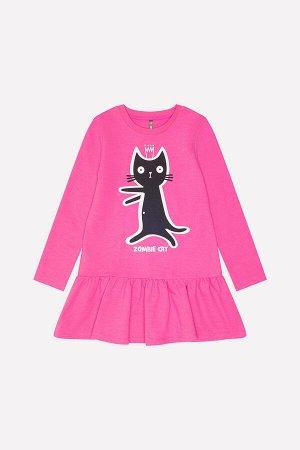 Платье(Осень-Зима)+girls (ярко-розовый к215)