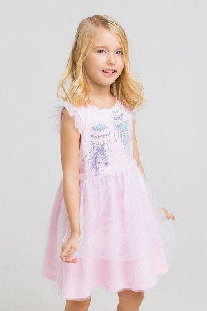Платье(Весна-Лето)+girls (розовое облако2 к211)
