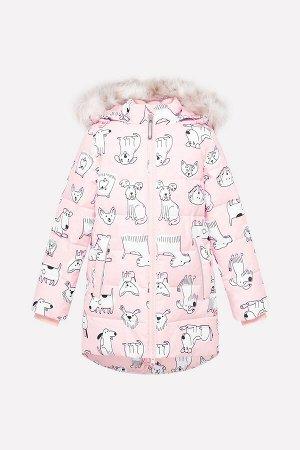 Куртка(Осень-Зима)+girls (светло-розовый, собачки)