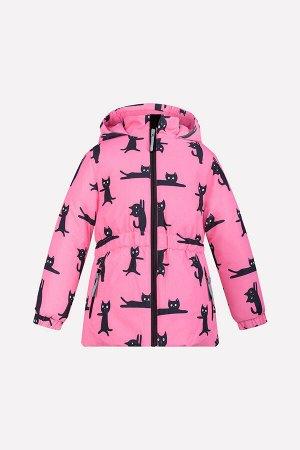 Куртка(Осень-Зима)+girls (розовый, котики)