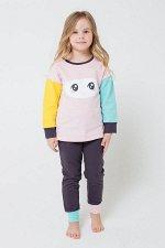 Пижама(Осень-Зима)+girls (холодный розовый, темно-серый)