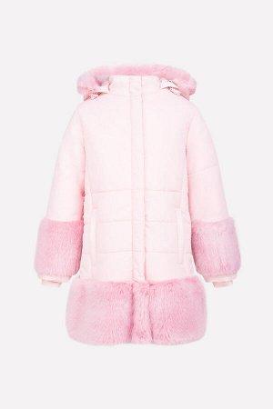 Пальто Сезон: Осень-Зима Зимнее стеганое пальто для девочки, на подкладке с утеплителем SEE 250г/м2. Мембранная ткань с тефлоновым покрытием обладает водоотталкивающими и грязеотталкивающими свойства