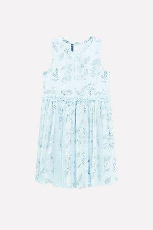 Платье(Весна-Лето)+girls (минт, летние цветы)