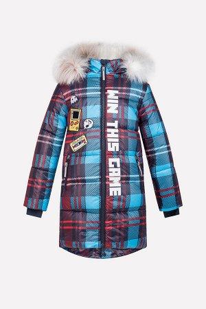 Пальто(Осень-Зима)+girls (красный, графит, ярко-голубой)