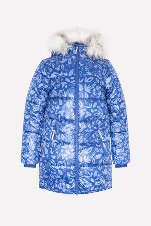 Пальто(Осень-Зима)+girls (ультрамарин, листья)
