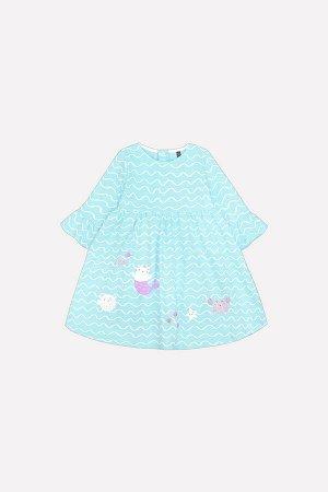 Платье(Весна-Лето)+girls (волна на аквамарине к209)