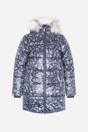 Пальто(Осень-Зима)+girls (графит, листья)