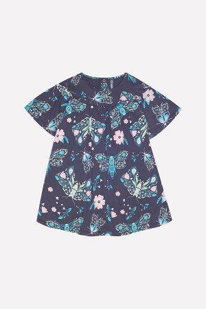 Платье(Осень-Зима)+girls (темно-серый, магические бабочки к223)