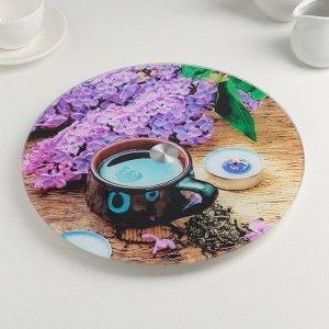 Подставка для торта вращающаяся «Чаепитие», d=28 см