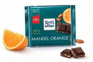 Шоколад темный Ritter Sport Миндаль и апельсин