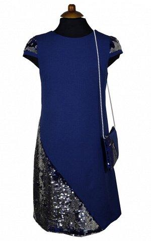 Платье Wecan 19026 Синий *