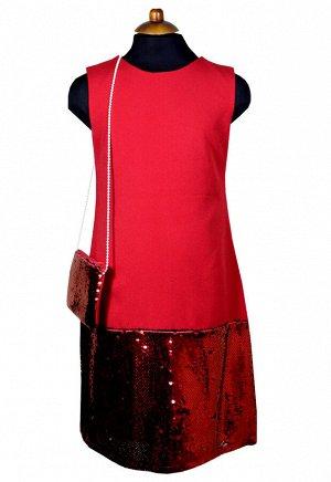 Платье Wecan 19257 Красный *