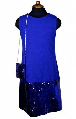 Платье Wecan 19257 Ультрамарин *