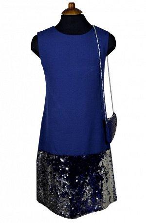 Платье Wecan 19257 Синий *