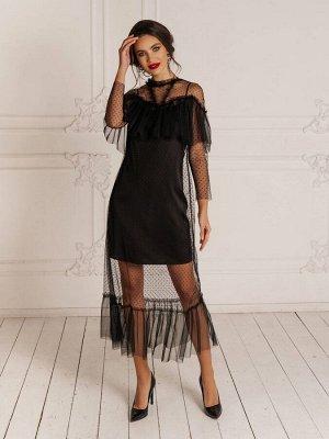Платье Платье Temper 287  Сезон: Осень-Зима Рост: 164  Красивое нарядное платье состоящее из двух не соединенных частей.Длина платья 133 см (нижнее 87 см).
