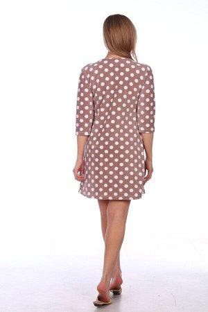 Платье Платье женское велюровое с аппликацией «Сова». О-образный вырез горловины. Длина изделия выше уровня колена. Рукав втачной, длина рукава 3/4. Полочка с двумя накладными карманами с планкой. На
