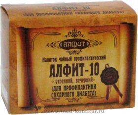 """Фитосбор """"Алфит-10"""" Для профилактики сахарного диабета, 60 брикетов"""