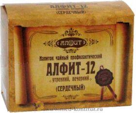 """Фитосбор """"Алфит-12"""" Сердечный, 60 брикетов"""