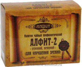 """Фитосбор """"Алфит-2"""" Для улучшения зрения, 60 брикетов"""