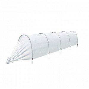 Парник прошитый, длина 4.5 м, 5 дуг из пластика, дуга L = 2 м, d = 20 мм, спанбонд 35 г/м?, Reifenh?user, «Ленивый»